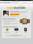 Kindle Cloud Reader homepage